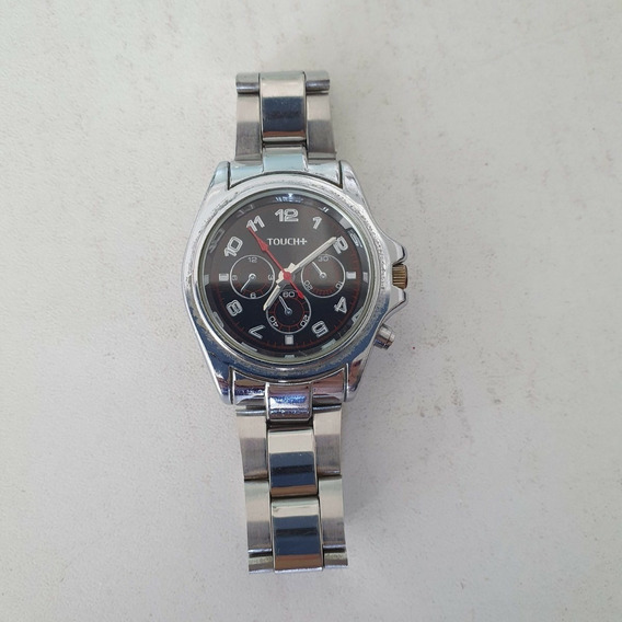 Relógio Analógico Marca Touch+ Prata