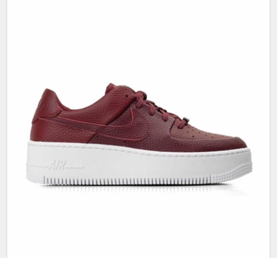 Tênis Nike Feminino Air Force 1 Sage Low Vinho