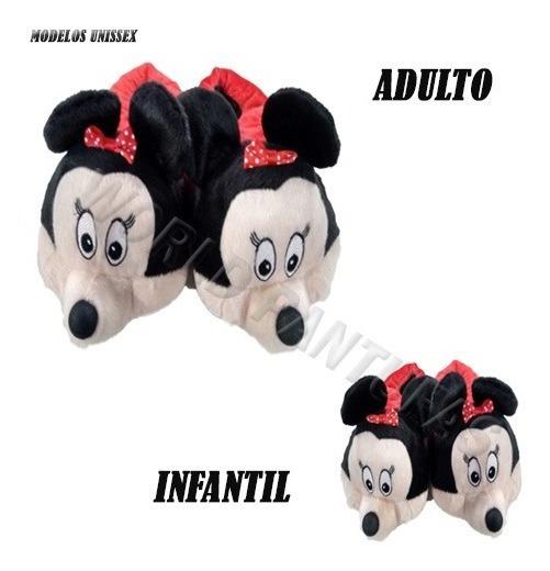 Pantufas Unissex Disney Revenda Pelucia Solado Emborrachado Adulto E Infantil Feitas A Mão Promoção