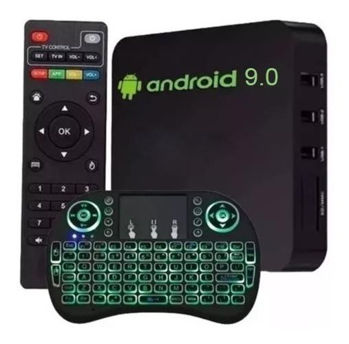 Aparelho 4k Android 9.0 Transformar Tv Em Smart C/ Teclado