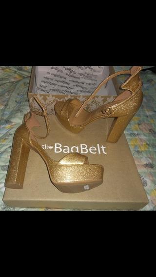 Zapatos (sandalias) Doradas The Bagbelt