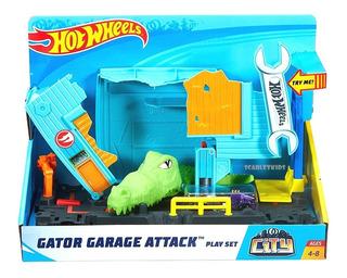 Hot Wheels Cocodrilo Ataque + Vehiculo Mattel Original
