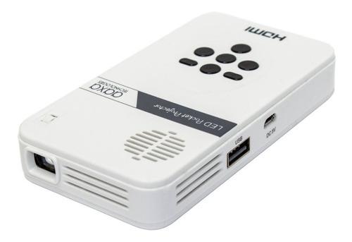 Imagen 1 de 6 de Mini Pico Proyector Pocket Mini Hdmi Media Player Led Qhd
