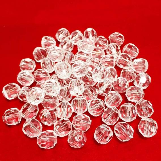 Pedrarias Cristal Facetado Acrílico 500gr - 06mm Ao 22mm