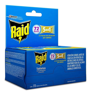72 Tabletas Contra Mosquitos Raid