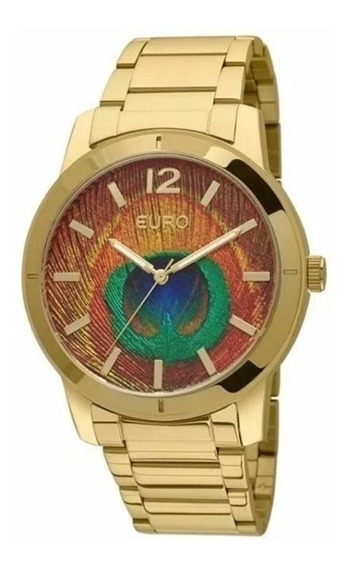 Relógio Euro Feminino Metal Dourado Analógico - Eu2036lym/4m