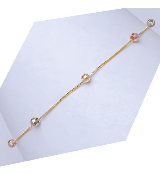 Brazalete Pulsera Viviana En Oro Solido De 10k Medida 19cm