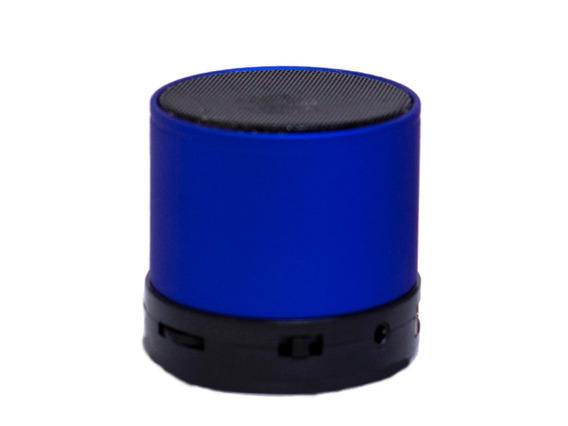 Mini Caixa De Som Bluetooth Sd Usb Radio Fm Mp3 Azul