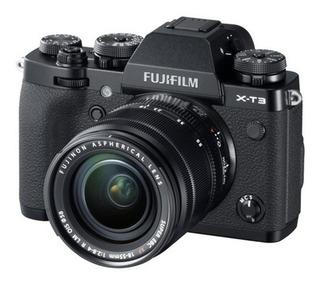 Kit Cámara Fujifilm X-t3 Black + Lente Xf18-55mm (13212)