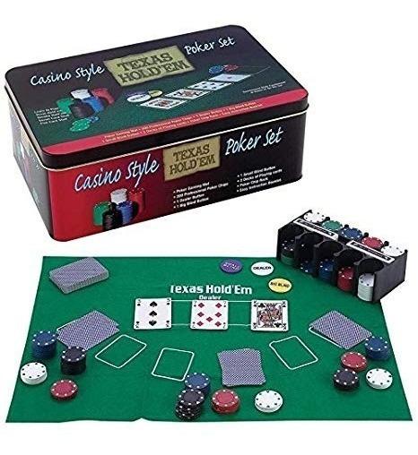 Juego De Mesa Set Poker Pocker 200 Fichas Con Caja T.fisica