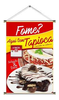 Banner De Tapioca Doce E Salgada - 60x90cm