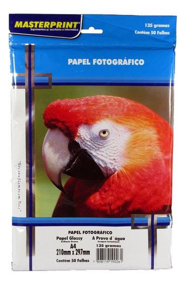 Papel Fotográfico Glossy Masterprint A4 135 Gramas 250 Folha