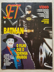 Revista Set 027 Cinema E Vídeo Batman Coringa Tim Burton Dc