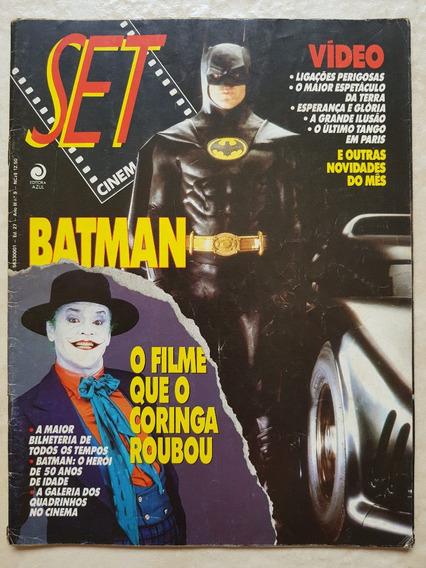 Revista Set 027 Cinema E Vídeo Batman Coringa Tim Burton Dc