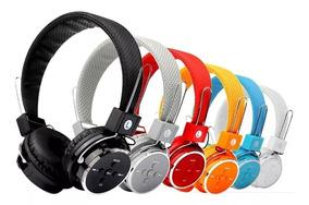 Kit C/ 3 Fone De Ouvido Bluetooth Sem Fio Micro Sd Fm P2 Mp3
