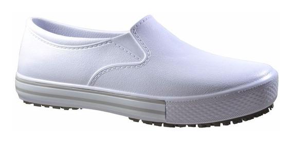 Sapato Bb80 Branco Enfermagem Antiderrapante Oferta!
