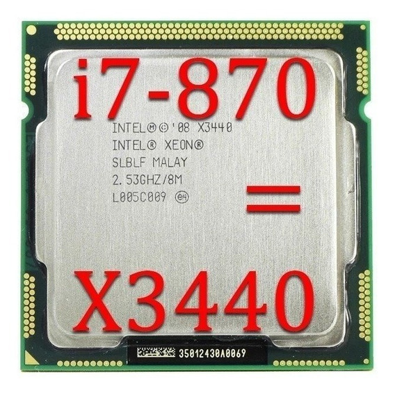 Processador Inter Xeon X3440 2,93ghz 1156 Igual A I7 870 + Pasta Térmica