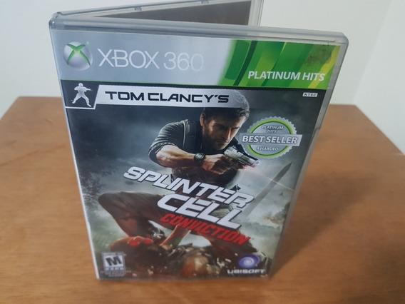 Splinter Cell Conviction Usado Original Xbox 360 Midia Fisic