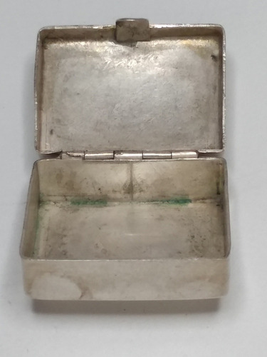 Imagen 1 de 5 de Cajita Mini De Plata Para Pastillas Con  Turquesa  Ley 925