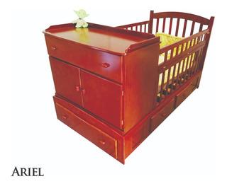 Cama Cuna ,madera Tornillo, Modelo Ariel