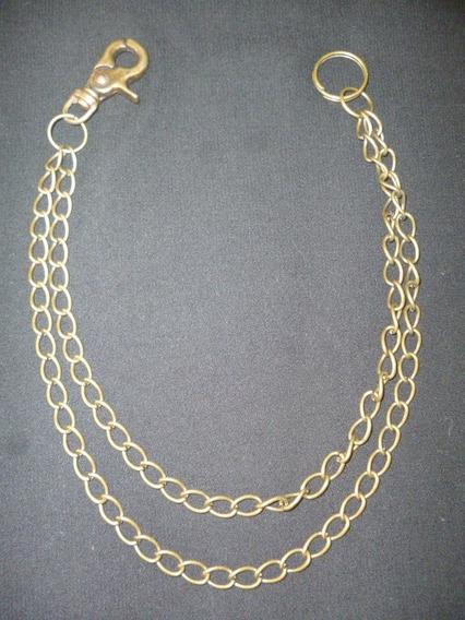 Cadena Doble P Pantalón Color Bronceviejo Llavero Quesearock