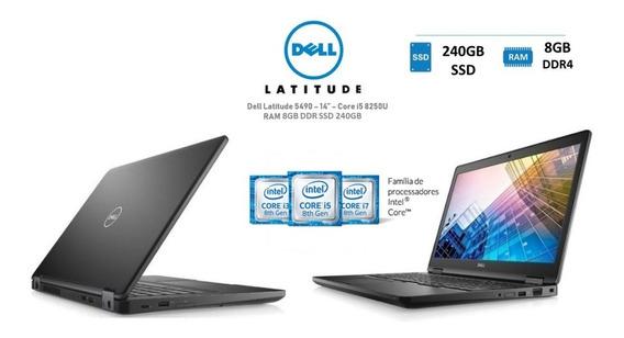 Notebook Dell Latitude 5490 I5 8ª.ger 8gb Ssd 240gb