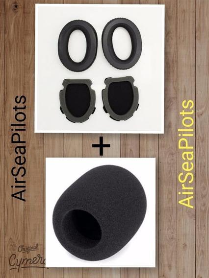 2 Pares Almofadas Headset Bose A10 E A20