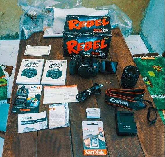 Canon T5i + Lente18-55 + Caixa + Cartão 16gb A Vista 1950