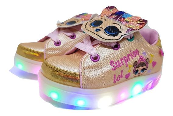 Zapatillas Lol Surprise Nenas/niñas Con Luces Led Del 22-32