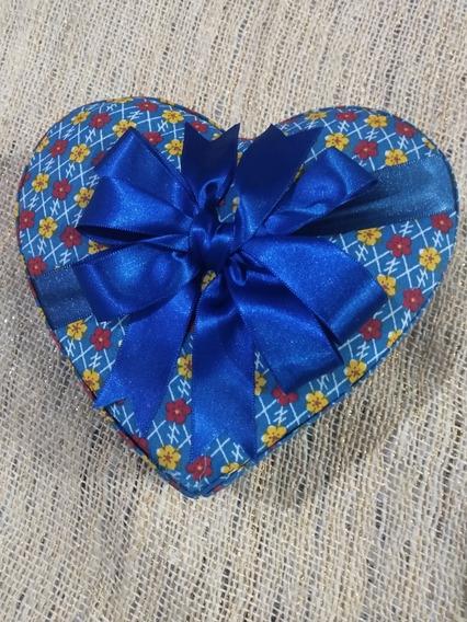 Caixa De Coração Porta Jóia Feita A Mão Com Papelao E Tecido