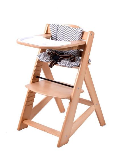 Silla Comer Bebe Madera Posiciones Alturas - Alpine Chair - Evolutiva Multiposicion - Desde 6 Meses A Adultos