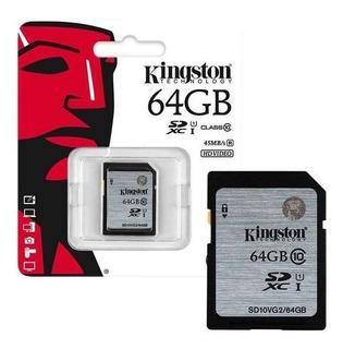 Cartão De Memória Sd Class 10 Hd Video 64gb Kingston