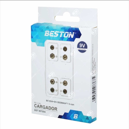 Cargador Beston Bst-c822 + Bateria Pila 9v Cuadrada 800mah