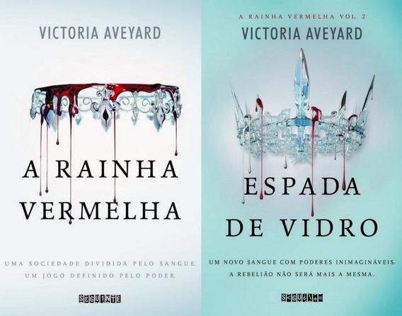 Livro A Rainha Vermelha + Espada De Vidro Victoria Aveyard