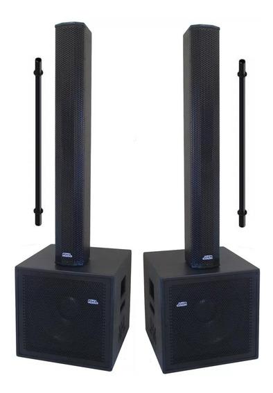 Caixa Ativa Duplo Pa Array Vl1700pro Sub 15 3400w Stereo Nhl Sistema Profissional Dois Lados Ativos Com Crossover Coluna