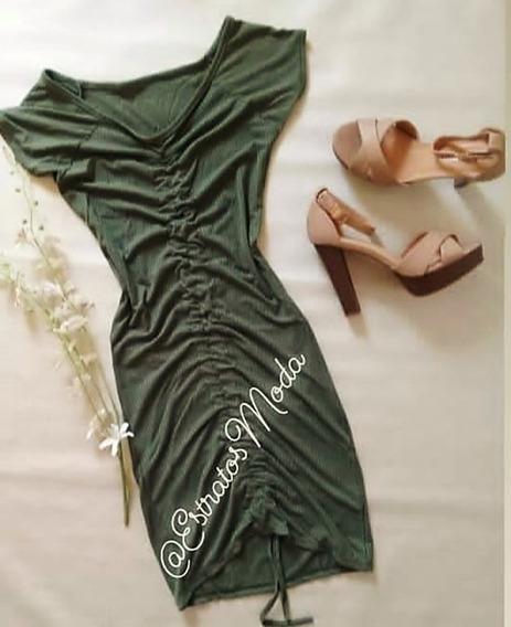 Vestido Dama Strech Verde Oliva Talla Única