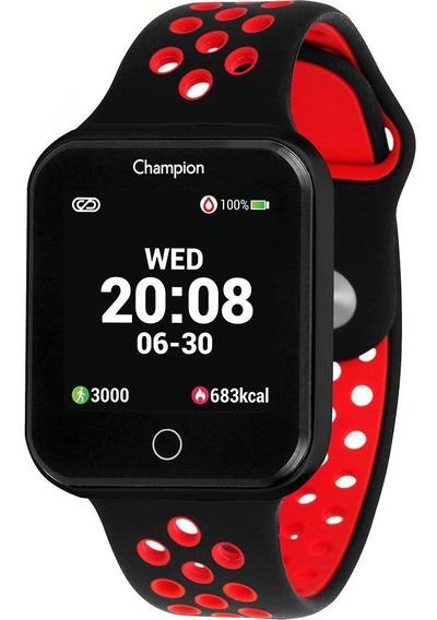 Relógio Inteligente Smartwatch Champion Unissex Vermelho
