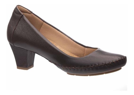 Sapato Feminino 791 Em Couro Café Doctor Shoes