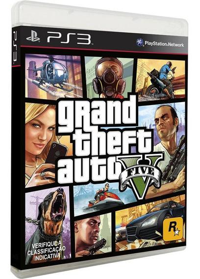 Grand Theft Auto V - Gta 5 Ps3 Midia Física Novo Lacrado