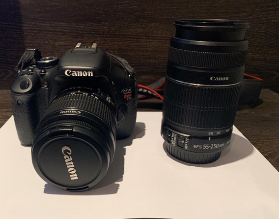 Câmera Canon Eos Rebel T3i + Lentes Efs 55-250mm E 18-55mm