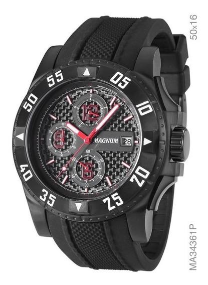 Relógio Masculino Magnum Ma34361c Cronógrafo Imperdível Barato