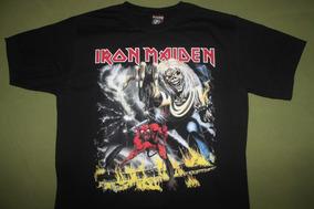 Gusanobass Playera Rock Metal Iron Maiden Number Heavy X L