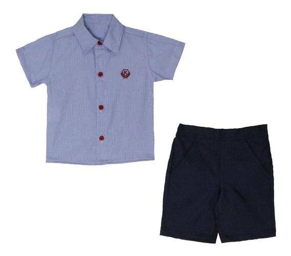 Conjunto Infantil Menino Tam: Pmg Azul Katitus 1376