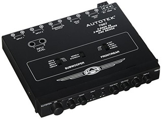Autotek 7007 Half-din 4-band 2-way Ecualizador