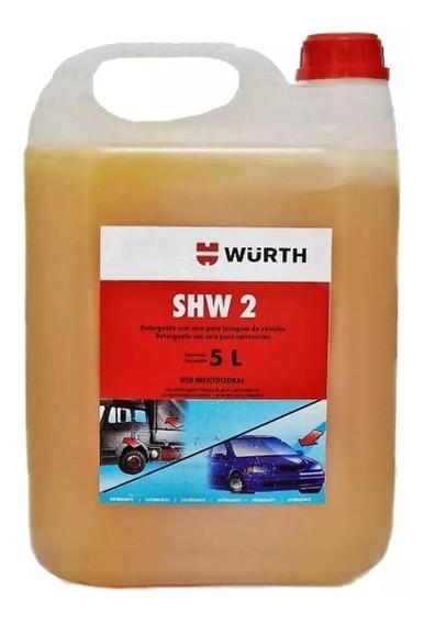 Shampoo Para Lavar Carro E Moto Wurth 5 Litros Com Cera Shw2