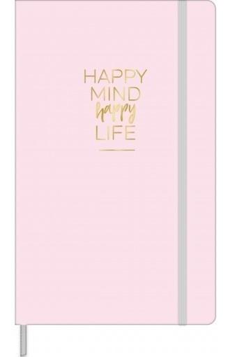 Caderno S/ Pauta Bullet Journal Happy (escolha A Cor)