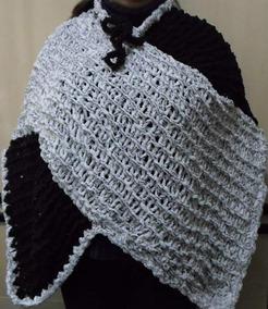 Poncho Feminino De Lã Inverno 2019