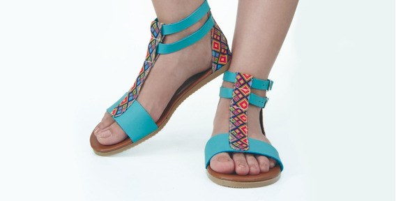 Sandalias Lote 12 Pares De Dama Tobillo Textil Piel Sintétic