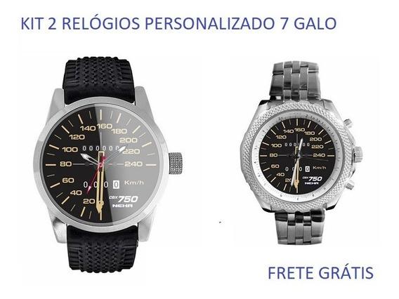 Kit 2 Relógios Personalizado Velocimetro Moto 7 Galo