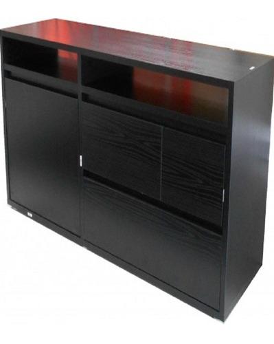 Rack Modelo Vision Tv74250 Color Negro Fumaya